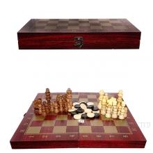 Игра настольная 3 в 1 (шахматы, шашки, нарды), L34 W17 H4 см