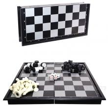 Игра настольная 3 в 1  (шахматы, шашки, нарды) с магнитной доской, L32 W6 H4 см
