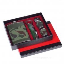 Набор: фляжка (250 мл), 2 стопки, воронка, нож-открывалка, L17.5 W4 H21.5 см