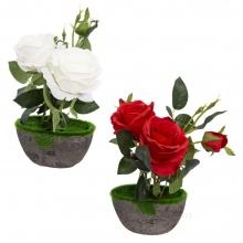 Цветочная композиция Роза, L14 W9 H28 см, 2в