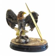 Фигурка декоративная Орел с подставкой для ручки и ручкой, L18.5 W10 H18 см
