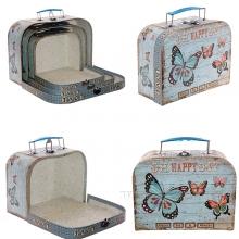 Набор из 3-х подарочных коробок Чемоданчик, 30x21x10, 25x18x9, 20x15x8,5 см