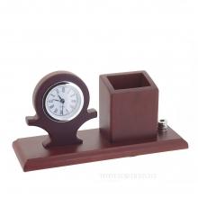 Настольный набор (часы, карандашница,подставка для ручки), L25 W9 H12см