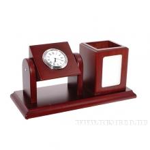 Настольный набор  (часы, карандашница, фоторамка), L24 W11 H13см