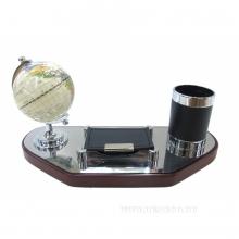Настольный набор (глобус, визитница, карандашница), L31 W13 H15 см