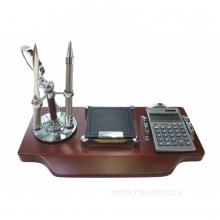 Настольный набор (ручка, нож для писем, лупа, блокнот, калькулятор) L30 W15 H20 см