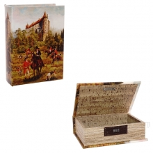 Шкатулка-книга c код.замком, L22 W16 H7см