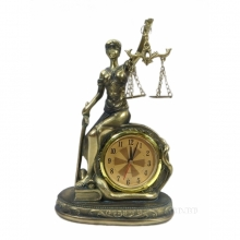 Часы настольные Фемида , L11.5 W6.5 H18.5 см