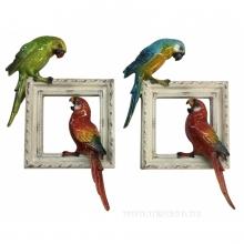 Панно Попугаи, L18.3 W5 H26.8 см, 2в