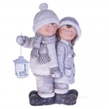 Фигурка декоративная Мальчик и Девочка, 31х20,5х48см