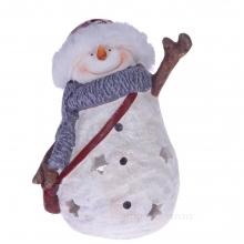Фигурка декоративная Снеговик, 29х21х33,5см