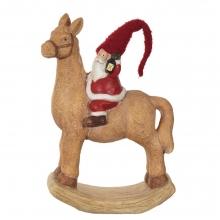 Фигурка декоративная Гномик на лошади, 31,5х14,6х45см
