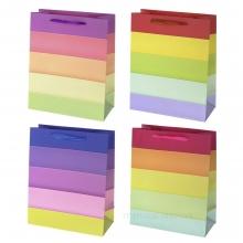 Пакет подарочный, (бумага, плотность 210г/м2, блок из 12-и шт.), L26 W12 H32 см, 4в